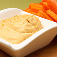 Smooth and Flavorful Sautéed Veggie Hummus