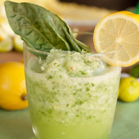 Refreshing Basil Lemon-Limeade Slushy
