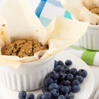 Oil-free Lemon Blueberry Buckwheat Bakes