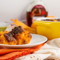 Garlic Maple Sweet Potato Casserole