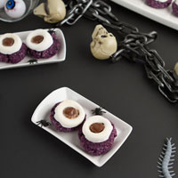 Monster Eyeball Macaroons (Vegan + Gluten-free)