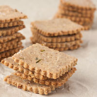 Gluten-free Multigrain Rosemary Crackers