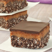 Raw + Vegan Nanaimo Bars