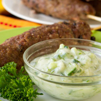 Paleo Beef Kebabs with Chunky Tzatziki