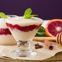Vegan Cream and Blood Orange Parfaits