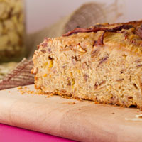 Vegan Gluten-free Almond Peach Bread