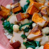 Eating Bird Food: Kale, Chickpea and Sweet Potato Bowls