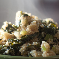 Quinoa and Kale Pilaf