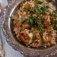 Shrimp Pulav (Shrimp Pilaf) with Sunshine and Smile