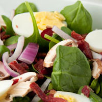 Salad Challenge: Spinach Salad with Tomato Vinaigrette