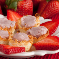 4 Ingredient Itty Bitty Strawberry Coconut Tarts