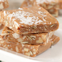 Thumbnail image for Guilt-free Nuts & Seeds Toffee Squares