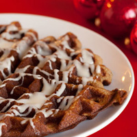 Cinnamon Waffles with Cream Cheese Frosting