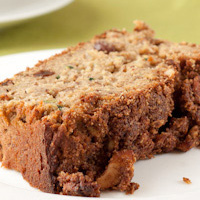 Zucchini Apple Spice Loaf with Cinnamon Sugar Topping