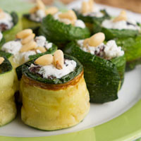 Zucchini Rolls with Herbed Goat Cheese + 30 Day Yoga Challenge