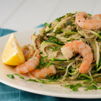 20 Ways to Use Up Pesto: Warmed Thai Basil Zucchini Pasta