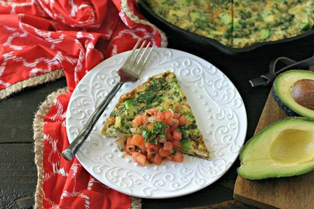 Deconstructed Guacamole Frittata