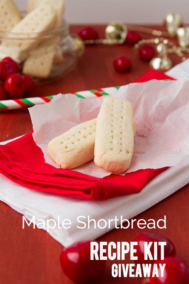 Maple Shortbread Recipe Kit Giveaway #glutenfree #vegan #paleo #giveaway