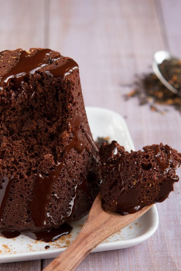2-Minute Chocolate Chai Mug Cake #keto #paleo #lchf
