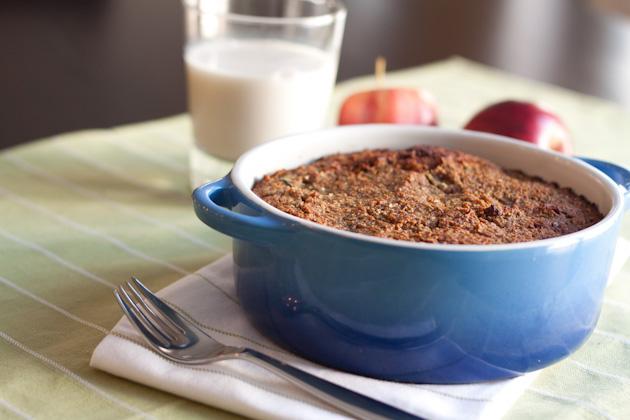 Zucchini Apple Breakfast Cake With Cashew Glaze