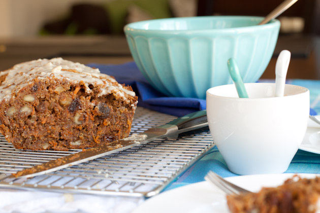 """Carrot Cake Loaf All Recipes: Carrot Cake Loaf With Cream """"Cheese"""" Icing"""