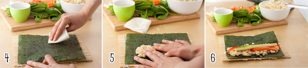 how to make california rolls step by step