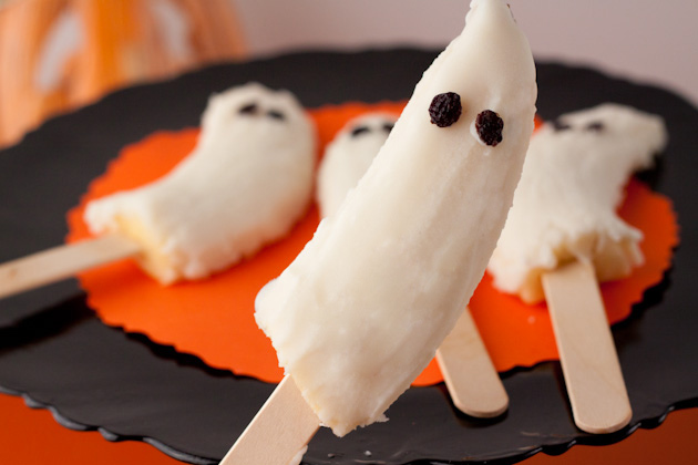 Healthy Halloween Recipes - Boo-nana Pops