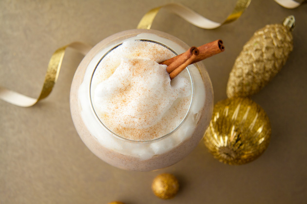 Eggnog Smoothie with 1 Minute Vanilla Whip
