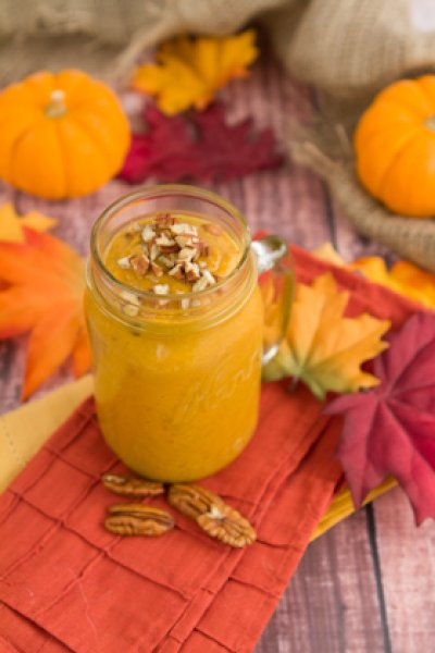 Pumpkin orange cream smoothie