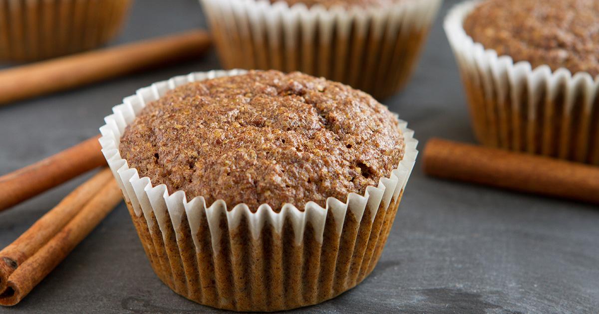 Keto Flaxseed Cinnamon Bun Muffins