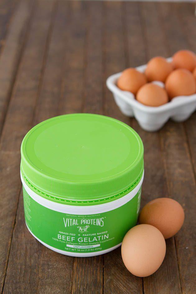 Make an egg-free gelatin egg! #keto #lowcarb #highfat #gelatin