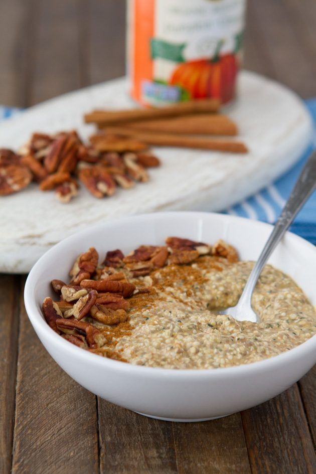 "Pumpkin spice latte keto overnight ""oats"" #keto #lowcarb #highfat #vegan #paleo"