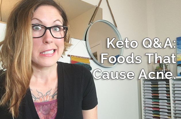 Acne on Keto, Total vs. Net Carbs, and Bad Sleep on Keto. #keto #lowcarb #fatfueled #theketodiet
