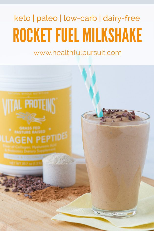 Rocket Fuel Keto Milkshake #keto #lowcarb #highfat