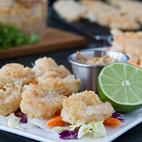 Breaded Shrimp Salad with Chipotle Mayo #keto #lowcarb #highfat