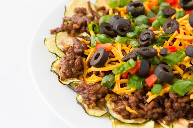 Low-Carb Zucchini Nachos #keto #lowcarb #highfat