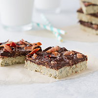 N'Oatmeal Chocolate Bacon Bars #keto #lowcarb #highfat #theketodiet