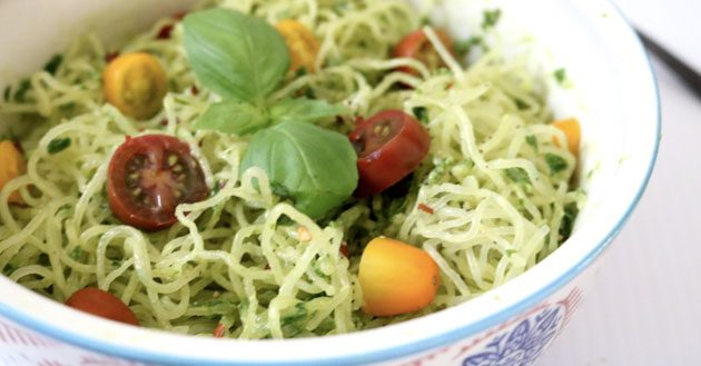 Avocado Pesto Kelp Noodles