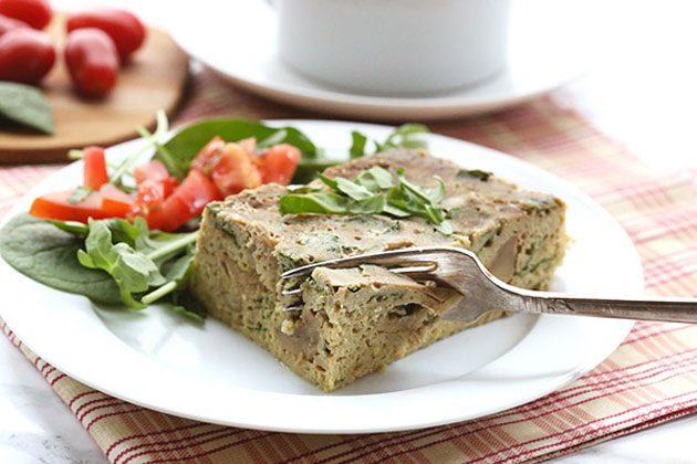 Spinach Artichoke Breakfast Casserole
