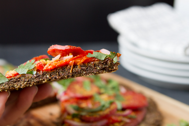 Thai Salami Pizza with Flaxseed Crust #keto #lowcarb #highfat #theketodiet
