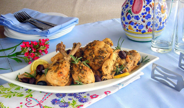 Lemon and Olive Ligurian Pressure Cooker Recipe