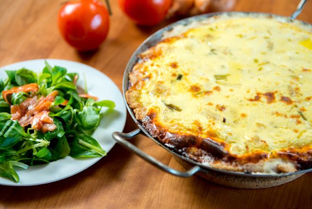 Smoked Salmon and Feta Cheese Quiche