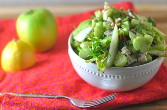 Celery Crunch Salad #keto #lowcarb #highfat #theketodiet #ketochristmas #ketothanksgiving
