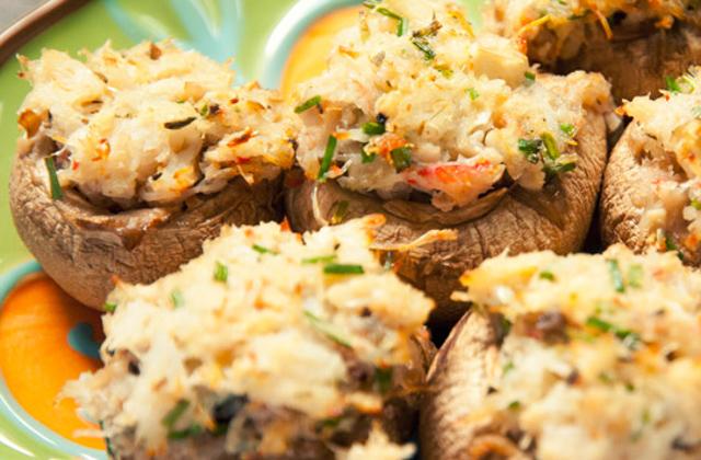 Crab Stuffed Mushrooms #keto #lowcarb #highfat #theketodiet #ketochristmas #ketothanksgiving