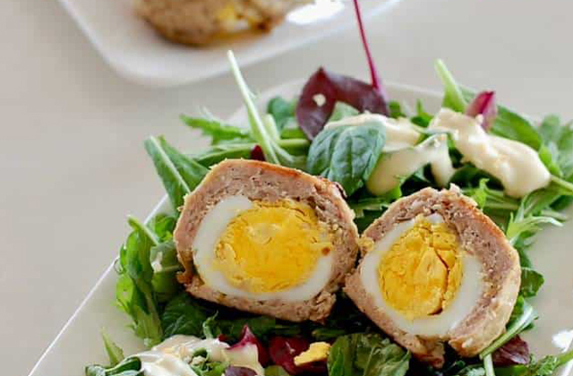 Paleo Scotch Eggs #keto #lowcarb #highfat #theketodiet #ketochristmas #ketothanksgiving