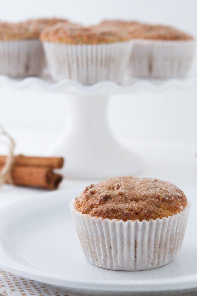 Low-Carb Cinnamon Sugar Muffins #keto #lowcarb