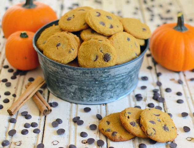 Pumpkin Chocolate Chip Cookies #keto #lowcarb #highfat #theketodiet #ketobakedgoods #ketodesserts #eggfree #lakanto