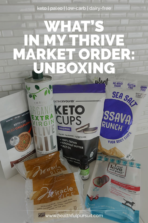 Thrive Market unboxing - what's inside! #ketosnacks #paleosnacks #paleo #keto