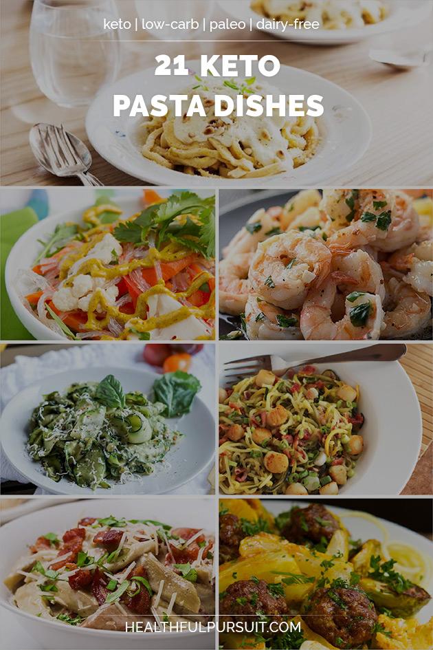 21 Keto Pasta Dishes #keto #lowcarb #highfat #theketodiet #NuPasta #ketopasta #ketospaghetti #ketonoodles #ketopastabake #ketocarbonara