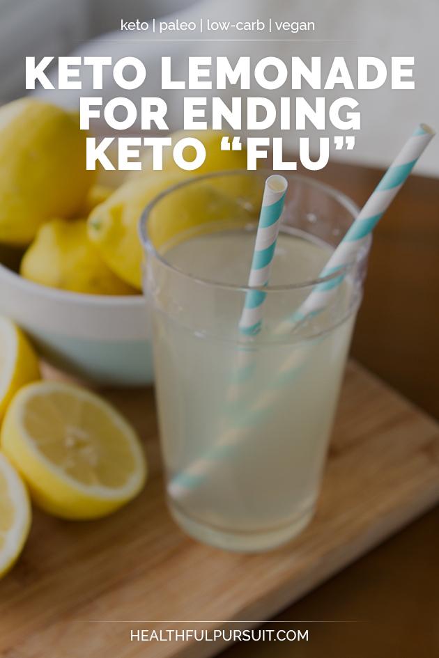 Keto Lemonade for Ending Keto Flu #keto #lowcarb #highfat #theketodiet